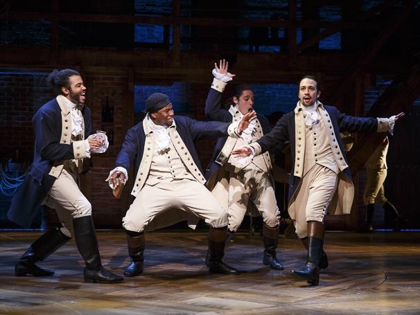 Marquis+de+Lafayette%2C+Hercules+Mulligan%2C+John+Laurens+and+Alexander+Hamilton+during+Act+1