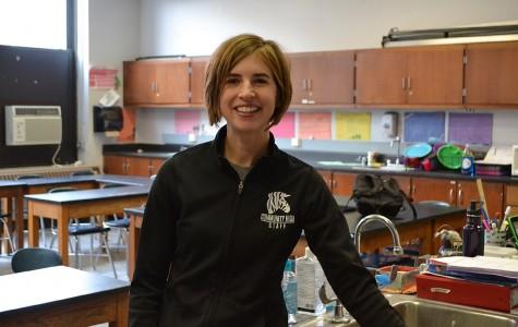 Courtney Kiley, a science teacher at Community High School in Ann Arbor