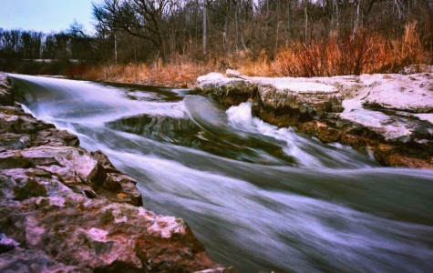Argo Cascades, taken on Tuesday, March 8th during Steve's advanced photography class. A long shutter speed is what makes the water look so smooth and fluid.