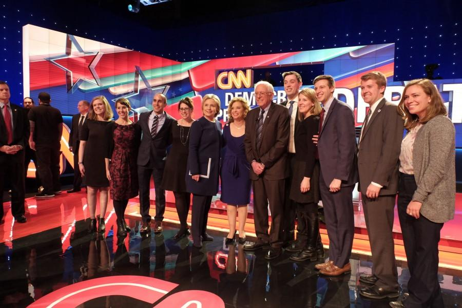 CNN Democratic Debate at the University of Michigan in Flint, Michigan. Courtesy of CNN.