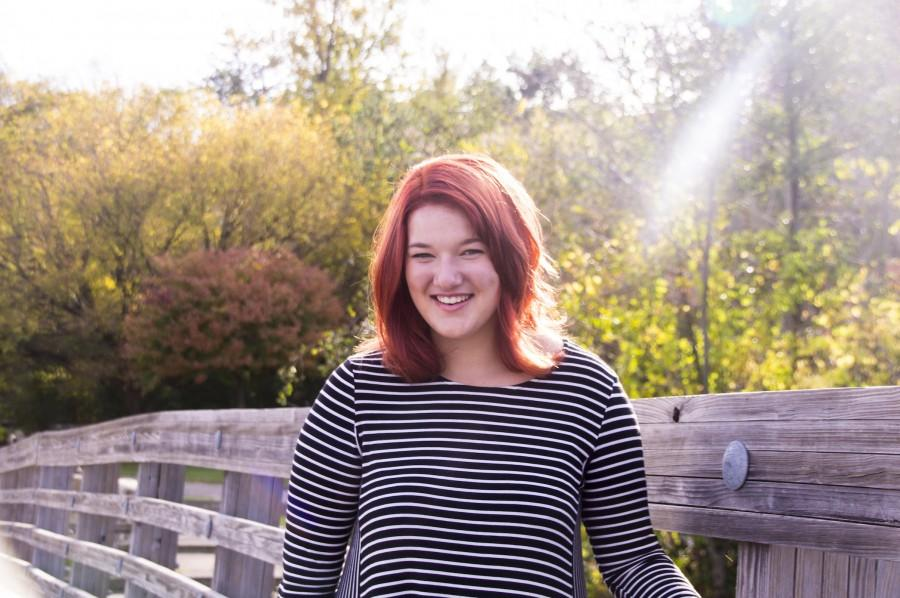 Borbely poses at Gallup Park this year for her Senior portrait.