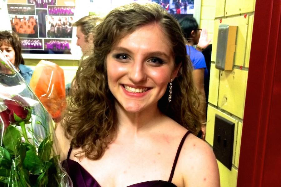 Pioneer+High+School+Kate+Moss+receives+flowers+after+her+vocal+concerto.+Moss+was+one+of+seven+Ann+Arbor+seniors+to+perform+in+the+60th+annual+Pioneer+High+School+Concerto+Concert.