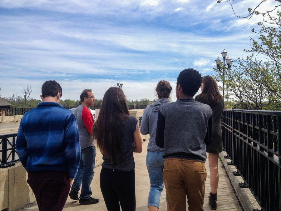 On Monday, May 9, students from Cindy Haidu-Banks's US History class were led on a walking tour focusing on the history of Ann Arbor. Each group was led by a volunteer from the community.