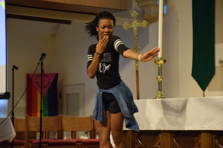 Kaleb Doughten-Priska, CHS junior, performs a dance routine.