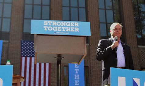 Tim Kaine Speaks to Building 'Community of Respect' at Ann Arbor Rally