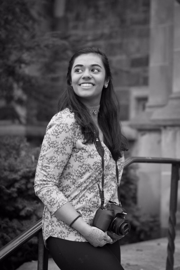 Anurima Kumar is photographed by Oleg Milhans on the University of Michigan campus where she attends. However, she tends to spend more time behind the camera, as she runs her own photography business, Anurima Kumar Photography. Officially started in 2015, Kumar has taken photos ranging from Indian classical dance performances to jazz concerts at The Ark.
