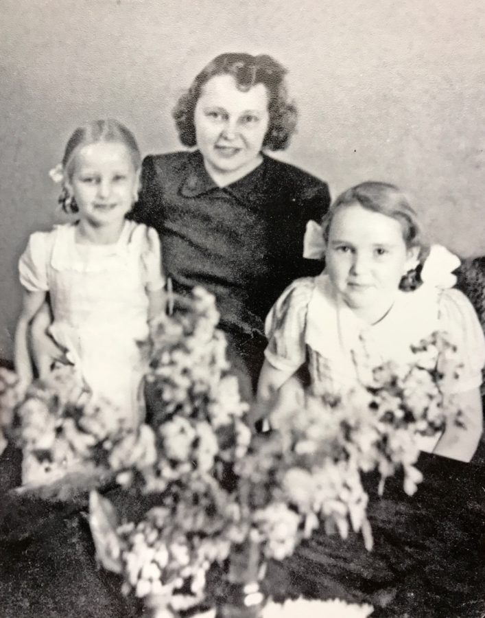 Mirdza Vitins and her daughters Aya (right) and Ieva (left)
