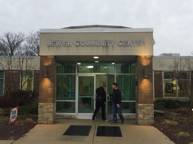 Security guards are on their toes at Ann Arbor's Jewish Community Center after a bomb threat on Feb. 27.
