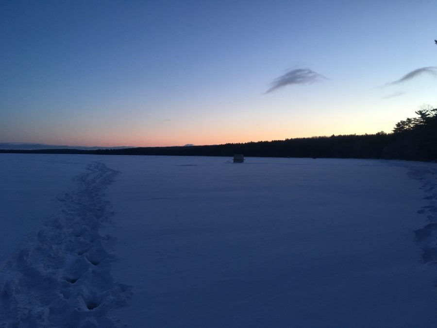 The sun rising over Douglas Lake on Saturday morning.