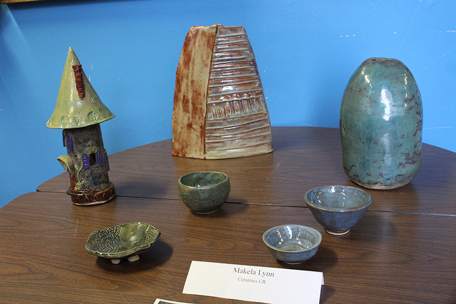 Pottery created by senior Makela Lynn for her ceramics CR.