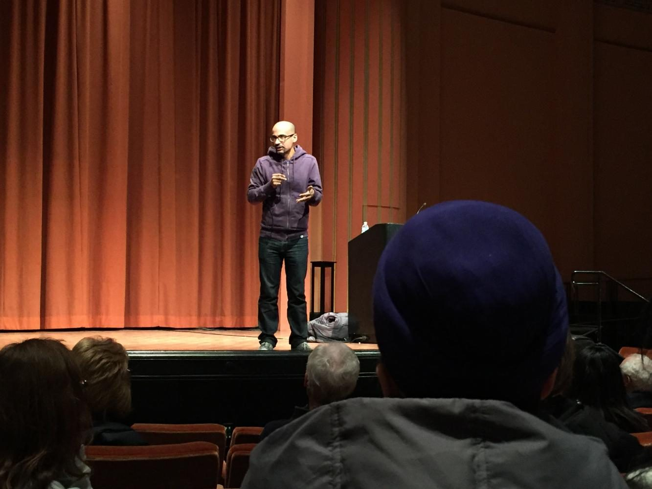 Junot Diaz gives a lecture at Rackham Auditorium
