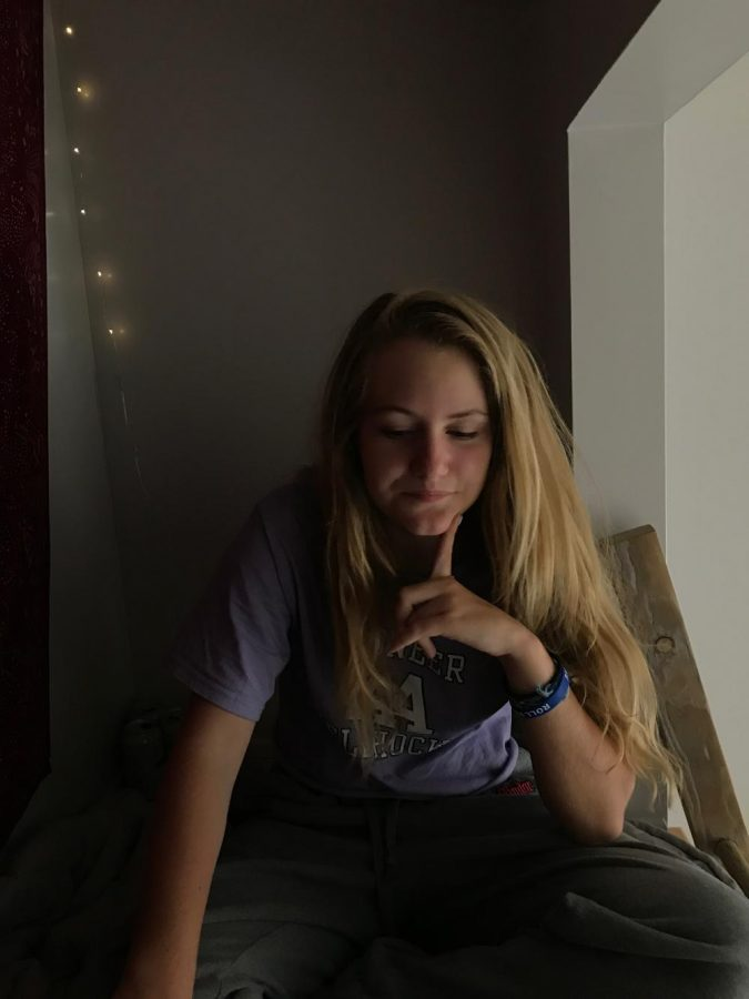 Chava Makman-Levinson sits in her loft, recalling old memories from her freshman year.