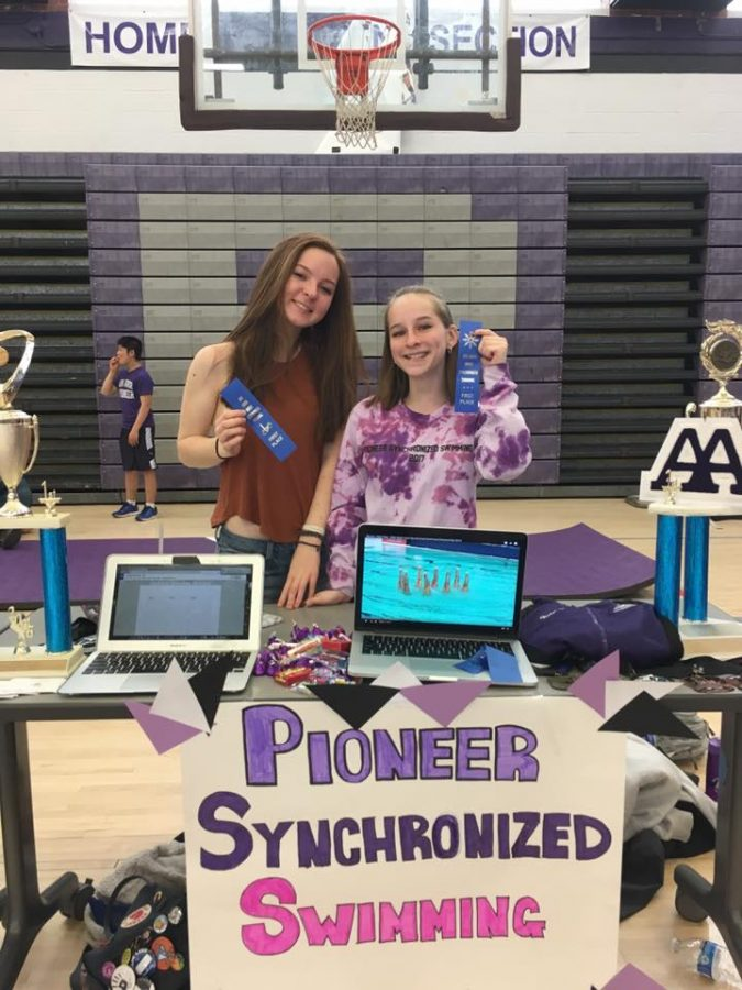Mackenzie Quigley and --- --- at the 8th grade orientation in May 2017 at Pioneer High School.
