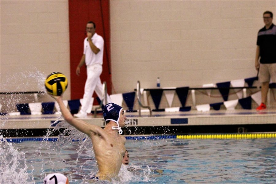 As Matteo Procoppe winds up to take a five meter shot, he puts all his concentration into his shot.