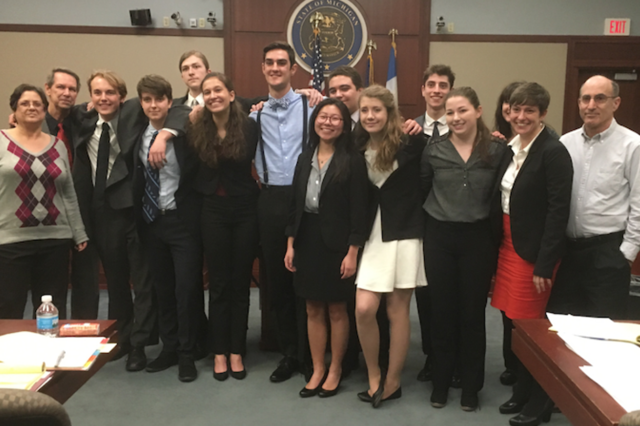 Mock Trial during their finals in May 2016. They failed to beat Kalamazoo in the finals.