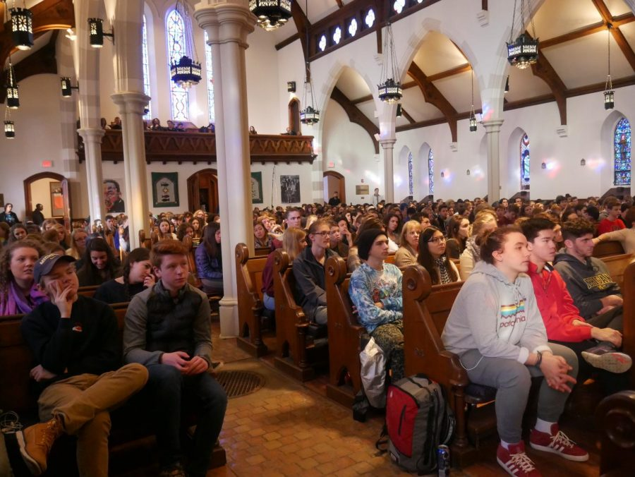 CHS Students fill St. Andrews church for the annual MLK day Assembly.
