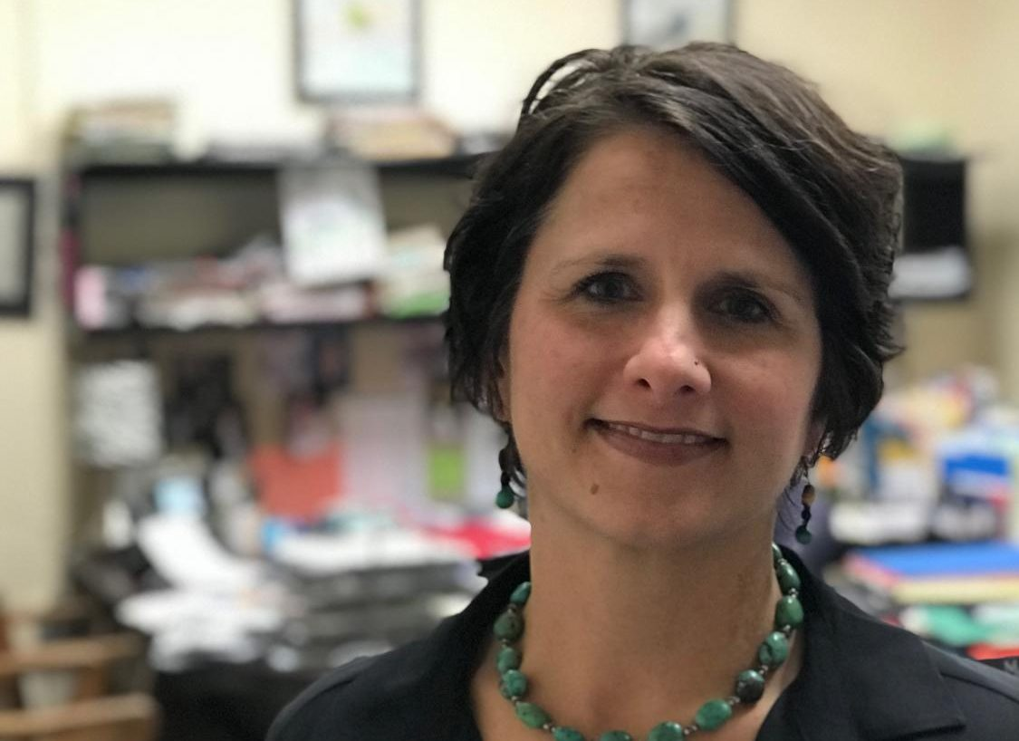 Marci Tuzinsky is the dean of Community High School. She has either been teaching or administrating at Community for two decades.