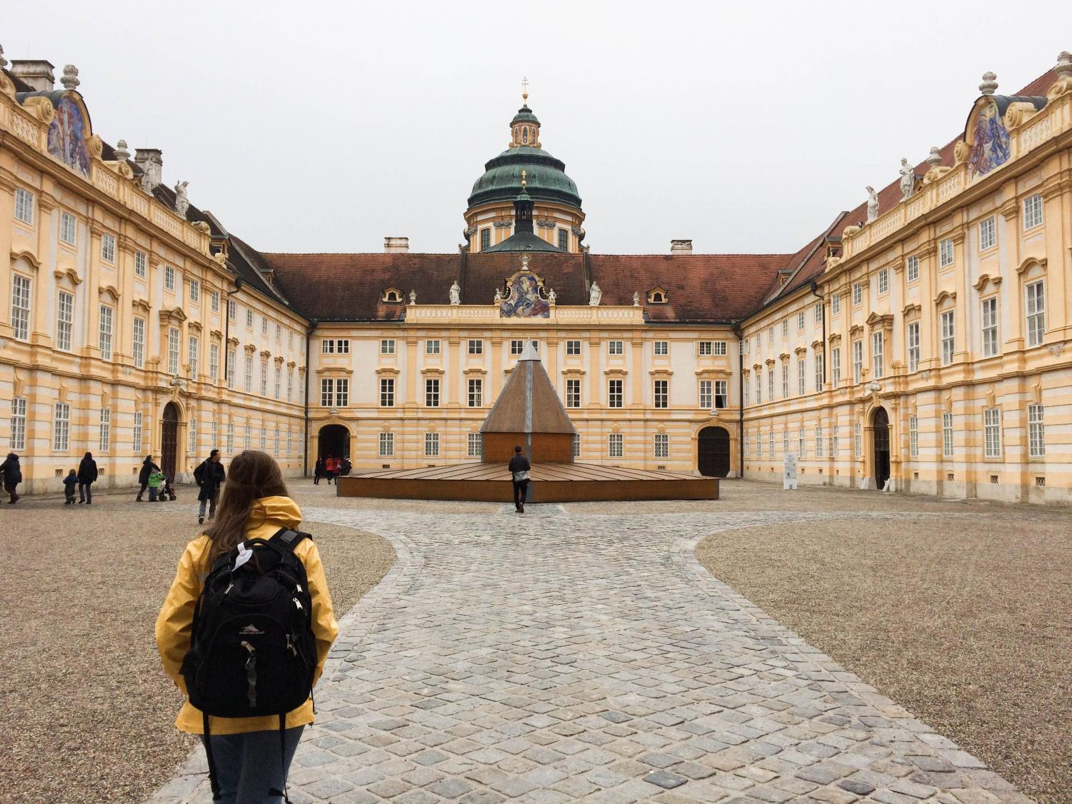 Anna and Josie's choir spent multiple days in Austria before they arrived, which included a visit to the Melk Abbey in Melk, Austria.
