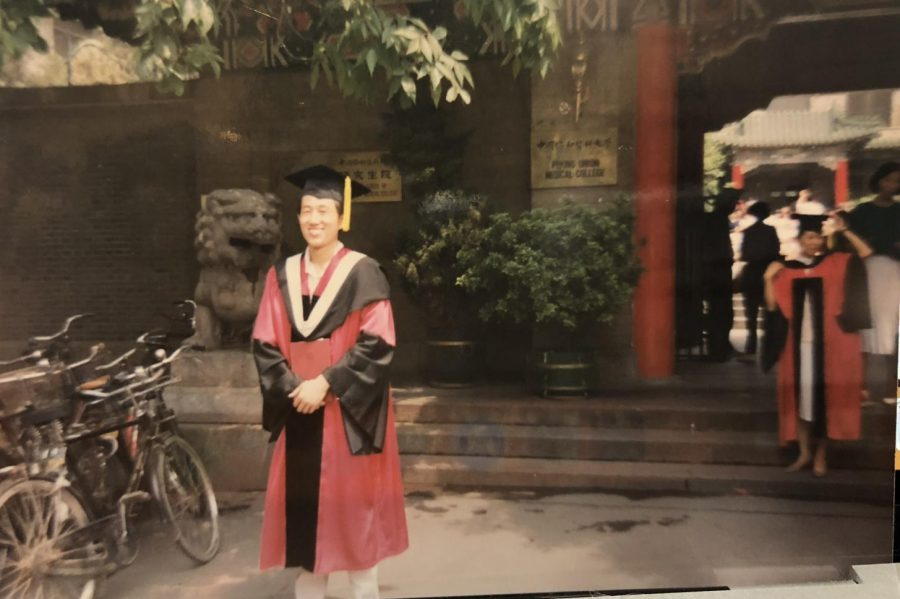 My+father%27s+graduation+from+the+Chinese+Academy+of+Medical+Sciences%2FPeking+Union+Medical+College+in+1992.+He+received+a+PhD+in+Molecular+Biology%2C+and+his+first+daughter+was+just+born+that+year.