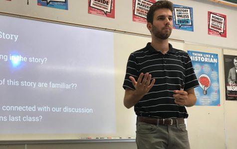 Ryan Silvester, the new World History teacher