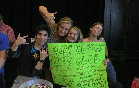 Service Club's New Plans for the School Year