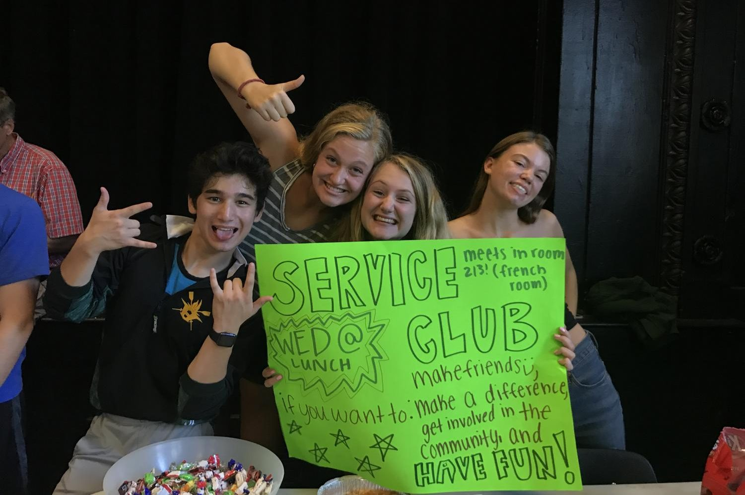 Service Club leaders Will Panitch, Ruby Taylor, Chava Makman-Levinson and Paige Duff