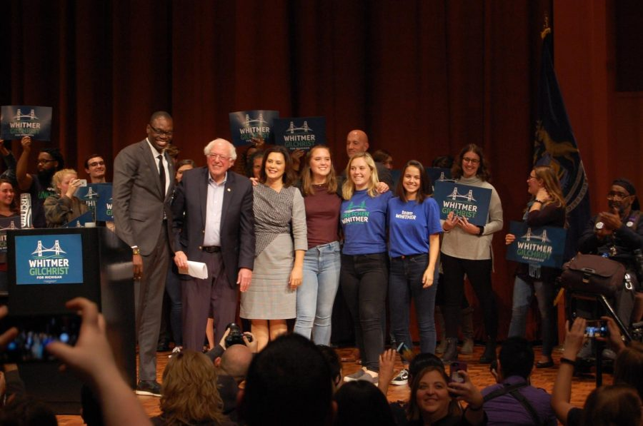 Bernie Sanders rallies for Michigan democrats