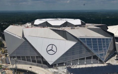Mercedes-Benz Stadium located in Atlanta –– home of Super Bowl LIII.