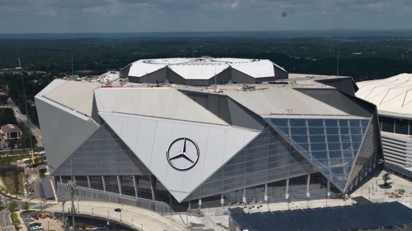 Mercedes-Benz+Stadium+located+in+Atlanta+%E2%80%93%E2%80%93+home+of+Super+Bowl+LIII.