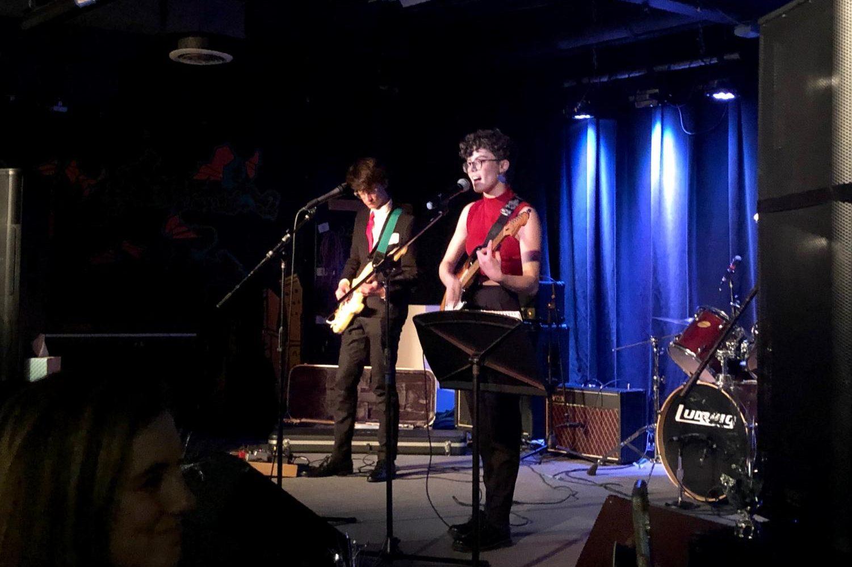 NZ teens Hazel Byers and Isaac McKenna performing.