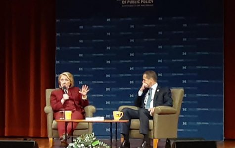 Hillary Clinton visits the University of Michigan