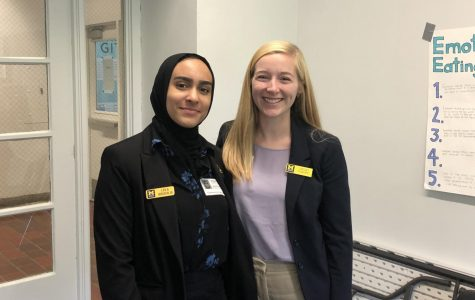 Leila Boudalia and Lindsey Taggart, Admissions counselors at the University of Michigan