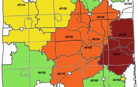 COVID cases by zip code in Washtenaw County