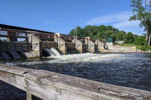 The Argo Dam on June 7., nearly three weeks after the rainstorm that caused the poorly-maintained Edenville Dam near Midland, Mich. to fail.