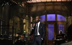 'Saturday Night Live' guest host Dave Chappelle during the monologue on Saturday. (Will Heath/NBC/TNS)