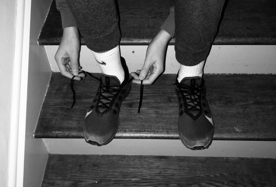 Once the pandemic began I knew I needed to take advantage of it. I didn't want to fall behind, I really wanted to stay active. The picture above shows me tying my running shoes getting ready for another run. Running to me is a nice escape from the real world. I go on a run to clear my mind and to help my body stay healthy. I started running around a few weeks after quarantine began. It was the hardest at first because I would need to take walk breaks and would often feel discouraged, However I noticed that the more I ran, the easier it was. I always felt better by the end of the day on the days that I would run, I felt good about the change I was making to my life. I would definitely recommend running to everyone reading this. It truly has had a positive impact on me and I am so thankful for it.