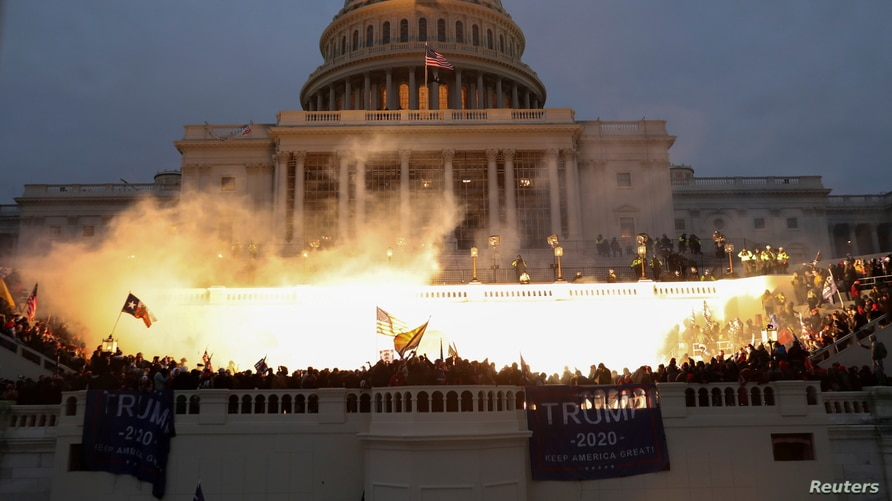 An image of the U.S. Capitol Building on January 6, from Reuters.