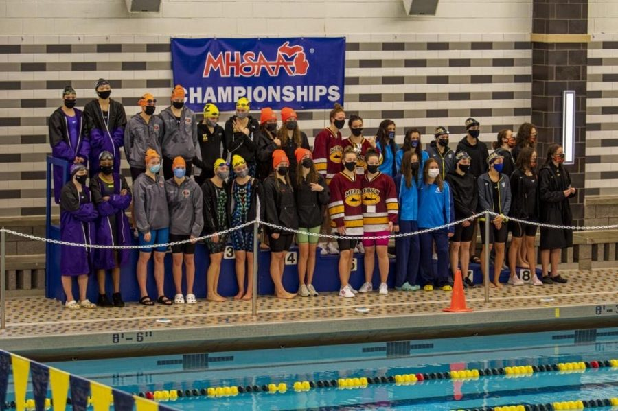 Pioneer Womens Swim and Dive take first place at state championships