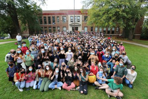 Students Gather for the Annual All-School Photo
